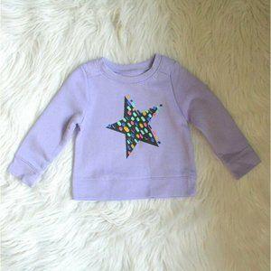 Cat & Jack Baby Girls Lavender Sweatshirt 12M